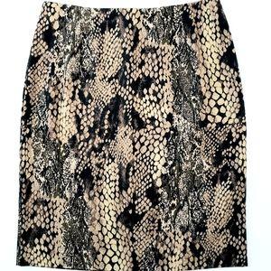 Harris/Wallace Snakeskin Pencil Skirt
